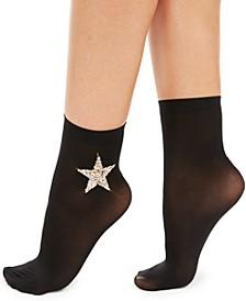 I.N.C. Women's Embellished Anklet Socks, Created For Macy's
