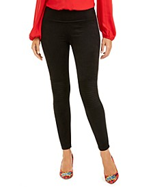 INC Pintucked Faux-Suede Leggings, Created For Macy's