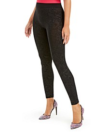 I.N.C. Seamless Embossed Paisley-Print Leggings, Created For Macy's