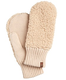 Recycled Knit Sherpa Fleece Mittens