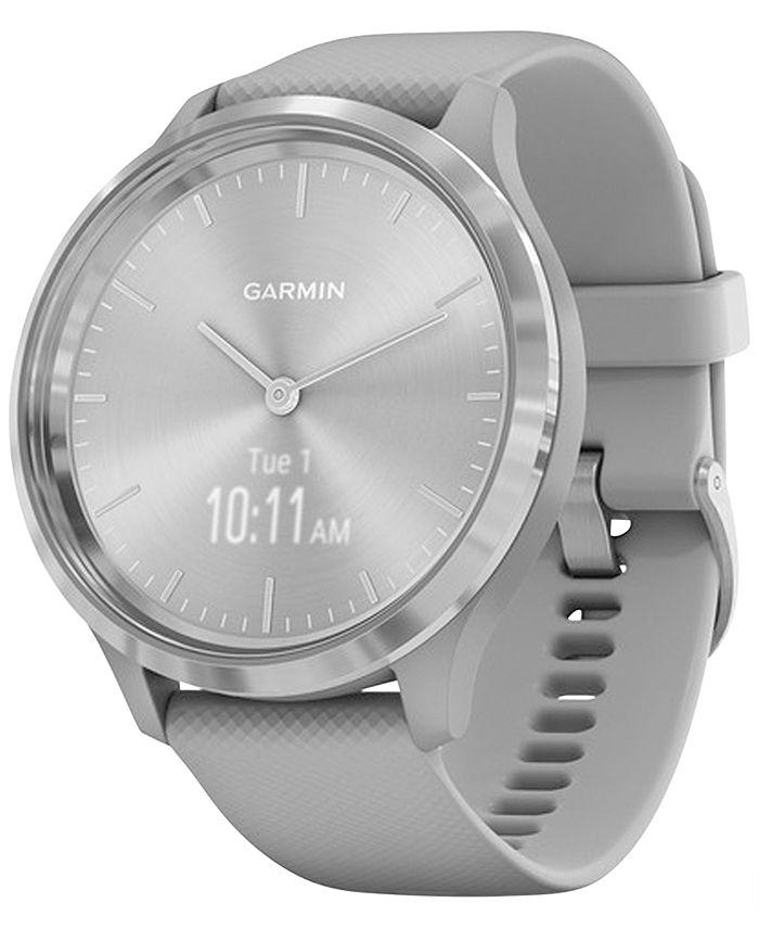 Garmin - Unisex Vívomove 3 Style Gray Silicone Strap Hybrid Touchscreen Smart Watch 44mm
