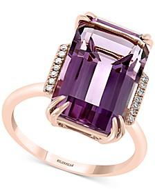 EFFY® Amethyst (7-5/8 ct. t.w.) & Diamond Accent Ring in 14k Rose Gold