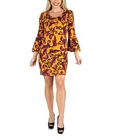 Women's Three Quarter Sleeve Women's Fall Mini Dress