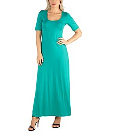 Women's Casual Maxi Dress with Sleeves