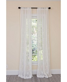 Belinda Embroidered Sheer Rod Pocket Curtain Collection