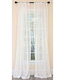 Blossom Embroidered Sheer Rod Pocket Curtain Collection