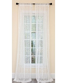 Snow Dots Sheer Rod Pocket Curtain Collection