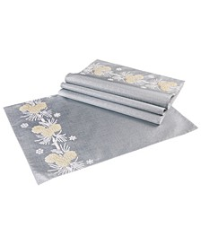 """Winter Pine Cone Christmas Placemats, 13"""" x 18"""", Set of 4"""