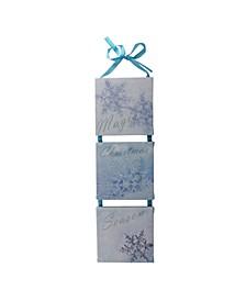"LED Lighted Winter ""Christmas Season"" Snowflake Wall Art Decoration"