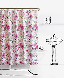 "Kate Spade New York Dahlias Cotton 72"" x 72"" Shower Curtain"