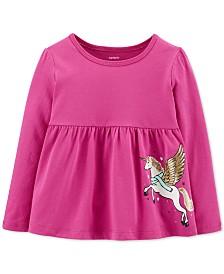 Carter's Baby Girls Pegasus-Print Cotton Top