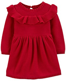 Baby Girls Ruffled Cotton Dress