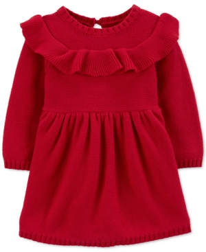1930s Childrens Fashion: Girls, Boys, Toddler, Baby Costumes Carters Baby Girls Ruffled Cotton Dress $16.00 AT vintagedancer.com