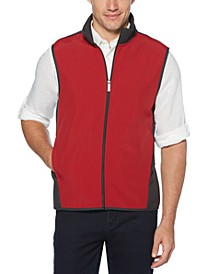 Men's Colorblocked Full-Zip Fleece Vest
