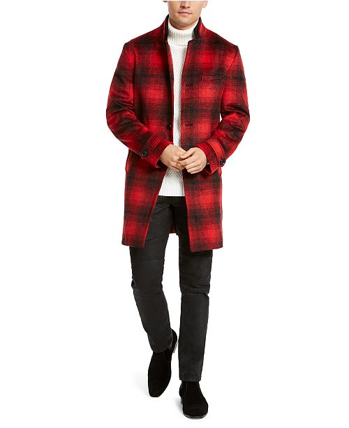 INC International Concepts I.N.C. Men's Todd Plaid Topcoat, Created For Macy's