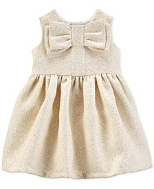 Baby Girls Metallic Bow Dress