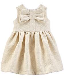 Baby Girls Metallic Bow Dress