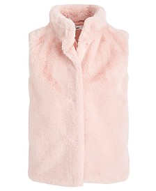 Epic Threads Big Girls Solid Faux-Fur Vest, Created For Macy's