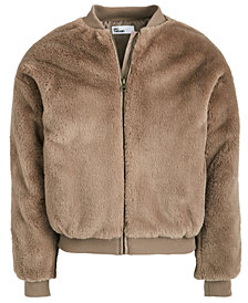 Epic Threads Big Girls Faux-Fur Bomber Jacket, Created For Macy's