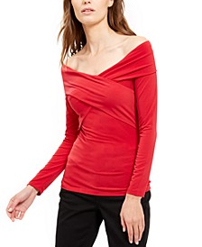 Crossover Off-The-Shoulder Top, Created For Macy's