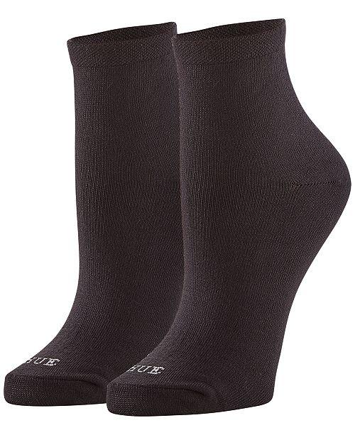Hue Women's 3 Pack Super Soft Cropped Socks