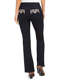 Petite Bling Pocket Bootcut Jeans, Created For Macy's