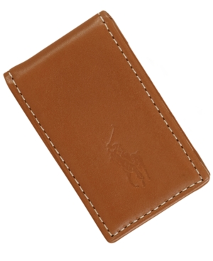 Polo Ralph Lauren Men's Accessories, Burnished Leather Money Clip