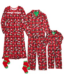 Baby, Little & Big Boys & Little & Big Girls Mickey & Minnie Mouse Holiday Pajamas Set