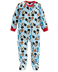 Toddler Boys 1-Pc. Fleece Mickey Mouse & Donald Duck Footie Pajamas