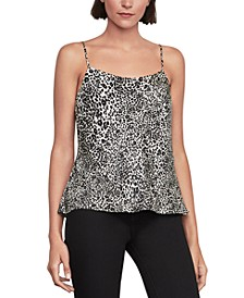 Animal-Print Strappy-Back Tank Top