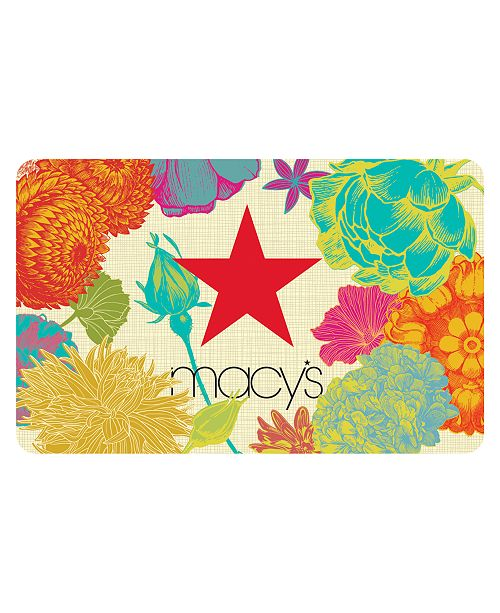 Macy's Floral Gift Card with Greeting Card
