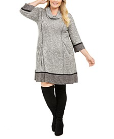Plus Size Cowl-Neck Sweater Dress