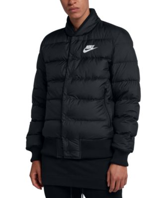 nike down bomber jacket