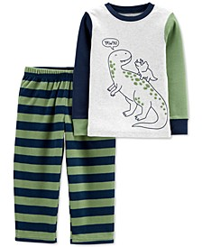 Toddler Boys 2-Pc. Dinosaur Pajamas Set