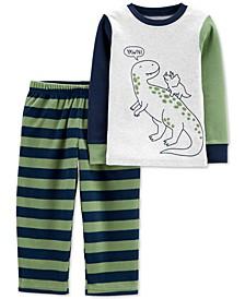 Toddler Boys 2-Pc. Dinosaur Pajamas Set