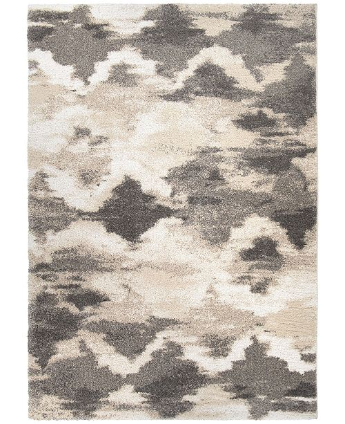 """Palmetto Living Mystical Harlequin Natural 6'7"""" x 9'6""""  Area Rug"""