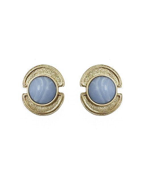 Stephanie by Stephanie Kantis Stephanie Kantis Sheath in Blue Chalcedony Stone Earring