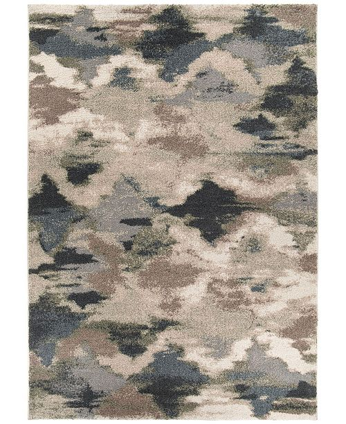 "Palmetto Living Mystical Harlequin Muted Blue 5'3"" x 7'6"" Area Rug"
