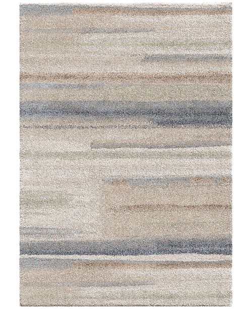 "Palmetto Living ORI409512 Mystical Modern Motion Muted Blue 5'3"" x 7'6"" Area Rug"