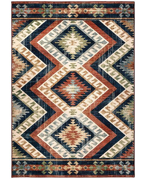 "Palmetto Living Alexandria Kilim Diamonds Faded Red 6'5"" x 9'6"" Area Rug"