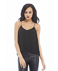 Women's Chiffon Pleated Top