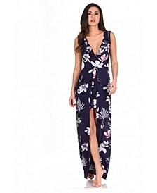 Women's Floral Print Wrap Skirt Romper