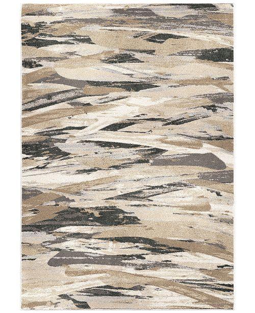 """Palmetto Living ORI423341 Riverstone Impressionist Multi 5'3"""" x 7'6"""" Area Rug"""