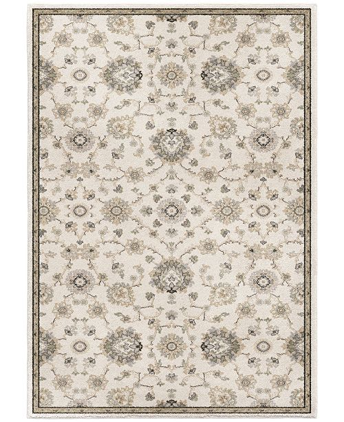 "Palmetto Living Riverstone Manor Sarouk Soft White 7'10"" x 10'10"" Area Rug"