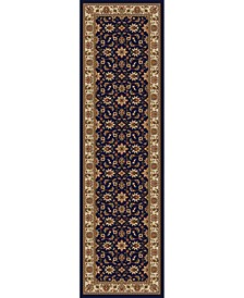 "CLOSEOUT! 1592/1084/NAVY Pesaro Blue 2'2"" x 7'7"" Runner Rug"