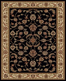 "CLOSEOUT! 1596/1312/BLACK Pesaro Black 7'9"" x 11' Area Rug"