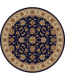 "CLOSEOUT! 1592/1085/NAVY Pesaro Blue 5'3"" x 5'3"" Round Area Rug"