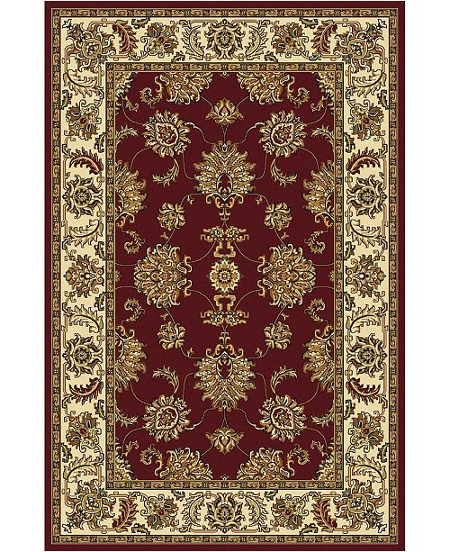 """KM Home CLOSEOUT! 1330/1231/BURGUNDY Navelli Red 5'5"""" x 8'3"""" Area Rug"""