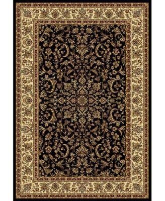 "CLOSEOUT! 1318/1521/BLACK Navelli Black 5'5"" x 8'3"" Area Rug"