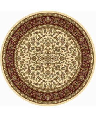 "CLOSEOUT! 1318/1517/IVORY Navelli Ivory/ Cream 7'10"" x 7'10"" Round Area Rug"